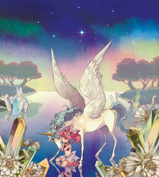 Tags: Anime, TANPI, Bishoujo Senshi Sailor Moon, Chibiusa, Pegasus (Sailor Moon), Sailor Chibi Moon, Golden Crystal, Alicorn, Pegasus, Fanart From Pixiv, Pixiv, Fanart, Pretty Guardian Sailor Moon