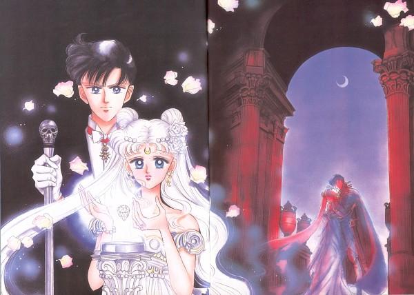 Tags: Anime, Takeuchi Naoko, Bishoujo Senshi Sailor Moon, Chiba Mamoru, Tsukino Usagi, Prince Endymion, Princess Serenity, Silver Crystal, Official Art, Scan, Pretty Guardian Sailor Moon