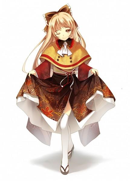 Tags: Anime, Bisonbison, Yukiko-tan (Coffee), Coffee (Personification), Curtsey, Mobile Wallpaper, Pixiv, Original