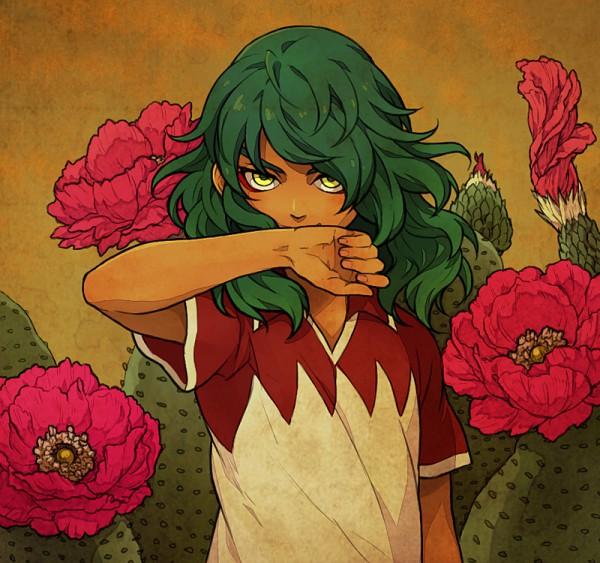 Tags: Anime, Yukasama, Inazuma Eleven, Björn Kyle, Cactus, Pixiv, Bilal Kalil