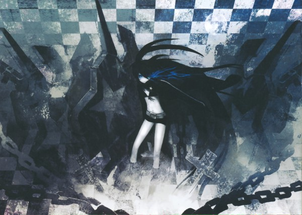 Tags: Anime, Black★Rock Shooter, Black★Rock Shooter: Visual Works, Black★Rock Shooter (Character), Official Art