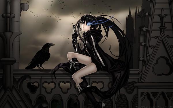 Tags: Anime, Black★Rock Shooter, Black★Rock Shooter (Character), Church, Dark Colors, 2560x1600 Wallpaper, Fanmade Wallpaper, Edited, Wallpaper, HD Wallpaper