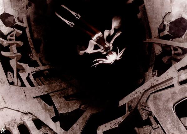 Tags: Anime, Huke, Black★Rock Shooter, Black★Rock Shooter: Visual Works, Black★Rock Shooter (Character), Comic Market 75, Official Art, Fixed, Scan