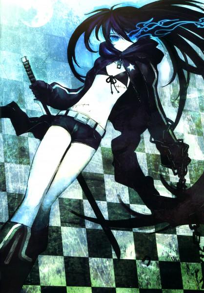 Tags: Anime, Huke, Black★Rock Shooter, PICSIX, Black★Rock Shooter: Visual Works, Black★Rock Shooter (Character), Pixiv, Mobile Wallpaper