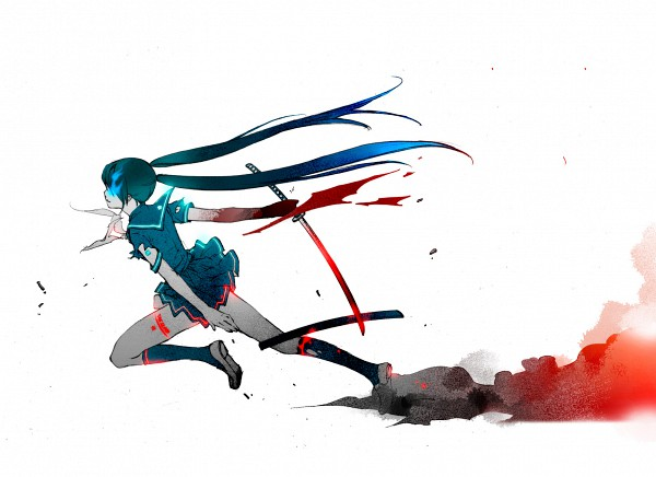 Tags: Anime, Asato (Artist), Black★Rock Shooter, Black★Rock Shooter (Character), Black Blade, Wallpaper