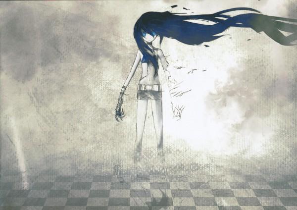 Tags: Anime, Huke, Black★Rock Shooter, Black★Rock Shooter: Visual Works, Black★Rock Shooter (Character), Disappearing, Pixiv