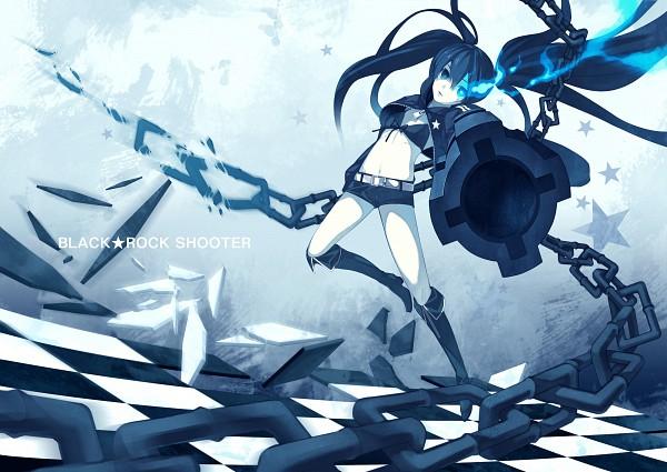 Tags: Anime, Shiranagi Masa, Black★Rock Shooter, Black★Rock Shooter (Character), Arm Cannon, ★rock Cannon, Aiming At Camera, Downscale