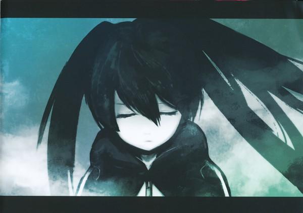 Tags: Anime, Huke, Black★Rock Shooter, Black★Rock Shooter: Visual Works, Black★Rock Shooter (Character), Official Art, Scan