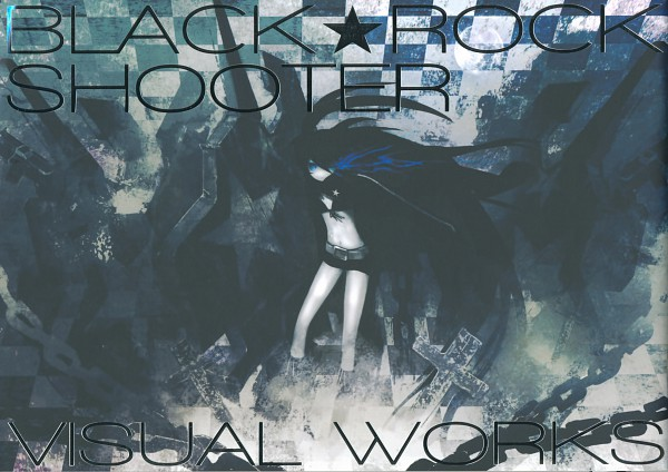 Tags: Anime, Black★Rock Shooter, Black★Rock Shooter: Visual Works, Black★Rock Shooter (Character), Scan, Official Art, Artbook Cover