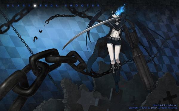Tags: Anime, Shuen, Black★Rock Shooter, Black★Rock Shooter (Character), Pixiv, Wallpaper