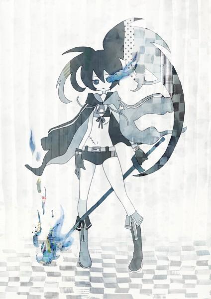 Tags: Anime, Kagimaru Chisuke, Black★Rock Shooter, Black★Rock Shooter (Character), Pixiv, Mobile Wallpaper