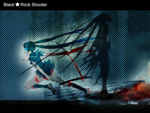 Tags: Anime, Black★Rock Shooter, Black★Rock Shooter (Character), Wallpaper, Edited