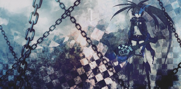 Tags: Anime, Huke, Black★Rock Shooter, Black★Rock Shooter (Character), Facebook Cover, Scan, Official Art, CD (Source)