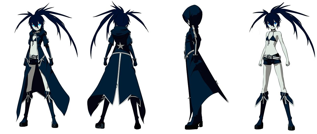 Tags: Anime, SANZIGEN, Black★Rock Shooter, Black★Rock Shooter (Character), Official Art, Character Sheet, Facebook Cover