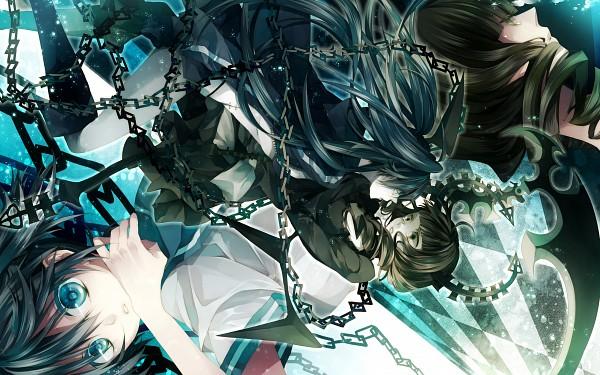 Tags: Anime, Black★Rock Shooter, Black★Rock Shooter (Character), Dead Master, Takanashi Yomi, Kuroi Mato, Cannon, 2560x1600 Wallpaper, Wallpaper, HD Wallpaper