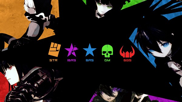 Tags: Anime, Huke, Black★Rock Shooter, Black★Gold Saw, Black★Rock Shooter (Character), Dead Master, STRength, Insane Black★Rock Shooter, Wallpaper, Facebook Cover