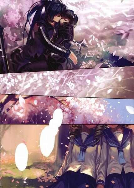 Tags: Anime, Alphonse, Black★Rock Shooter, The Original Stone, Kuroi Mato, Black★Rock Shooter (Character), Takanashi Yomi, Comic Market, Comic Market 79, Scan, Mobile Wallpaper