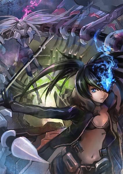 Tags: Anime, Hayashi13, Black★Rock Shooter, White☆Rock Shooter, Black★Rock Shooter (Character), Fanart, Pixiv