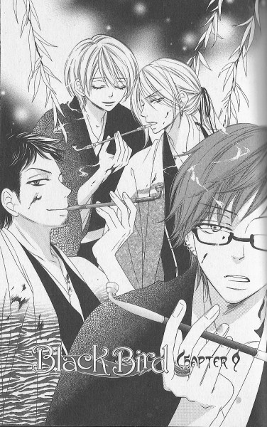 Tags: Anime, Sakurakoji Kanoko, Black Bird (Manga), Buzen, Houki, Sagami Ryo, Zenki, Official Art