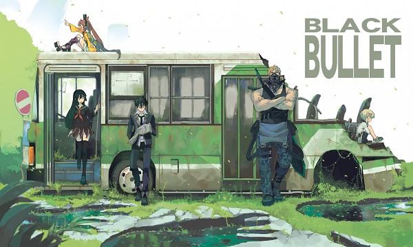 Tags: Anime, Morino Hon, Black Bullet, Tendou Kisara, Senju Kayo, Satomi Rentarou, Aihara Enju, Ikuma Shougen, Bus, Official Art