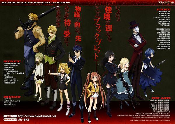 Tags: Anime, Kinema Citrus, Black Bullet, Katagiri Yuzuki, Ikuma Shougen, Aihara Enju, Katagiri Tamaki, Tendou Kisara, Tina Sprout, Senju Kayo, Hiruko Kagetane, Hiruko Kohina, Satomi Rentarou