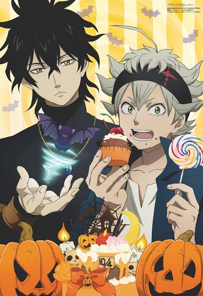 Tags: Anime, Studio Pierrot, Black Clover, Asta (Black Clover), Yuno (Black Clover), Magazine (Source), Scan, Official Art