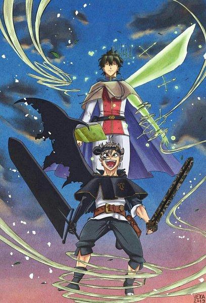 Tags: Anime, Veka, Black Clover, Asta (Black Clover), Black Asta, Yuno (Black Clover)