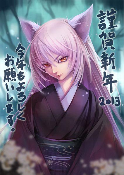 Tags: Anime, Sogudo, Monogatari, Hanekawa Tsubasa, Depth Of Field, Pixiv, Happy 2013, Fanart, Mobile Wallpaper