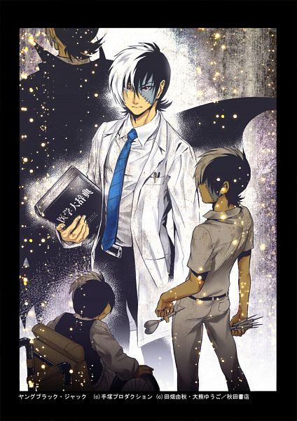Tags: Anime, Okuma Yuugo, Black Jack, Black Jack (Character), Doctor, Wheelchair, Wheel, Dart, Age Progression, Mobile Wallpaper, Fanart, Pixiv