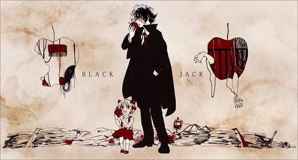 Tags: Anime, Pixiv Id 44697, Black Jack, Pinoko, Black Jack (Character), Weird