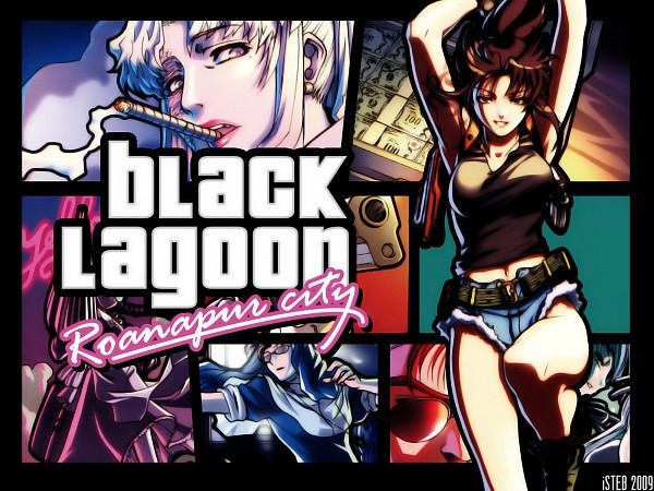 Tags: Anime, Kusotoko, Black Lagoon, Balalaika, Roberta, Revy, Grand Theft Auto (Parody)