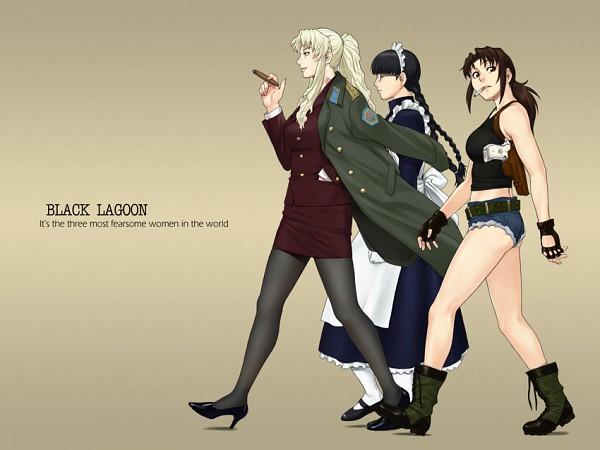 Tags: Anime, Black Lagoon, Roberta, Revy, Balalaika, Cigar, Artist Request