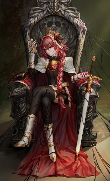 Tags: Anime, Pixiv Id 6461038, Fate/Grand Order, Black Rider, Looking At Hands, Sitting On Throne, Throne, Fanart, Fanart From Pixiv, Pixiv