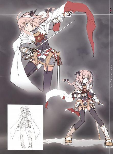 Tags: Anime, Konoe Ototsugu, TYPE-MOON, Fate/Apocrypha, Black Rider, Official Art, Sketch