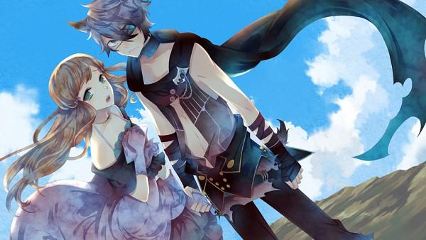 Tags: Anime, Kuroyuki, Black Wolves Saga, Fiona Galland, Rath Vogart, Facebook Cover, Wallpaper, CG Art