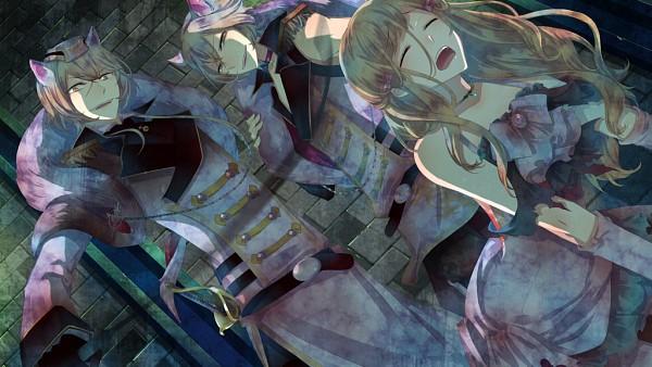 Tags: Anime, Kuroyuki, Black Wolves Saga, Mejojo Von Garibaldi, Fiona Galland, Auger Von Garibaldi, Douleur, Torture, Wallpaper, CG Art, Facebook Cover