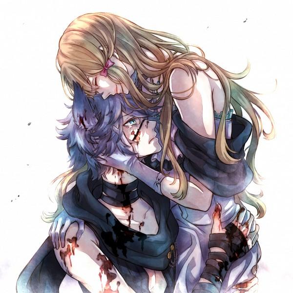 Tags: Anime, Kuro (Pixiv12803091), Black Wolves Saga, Rath Vogart, Fiona Galland, Pixiv, Fanart, Fanart From Pixiv, PNG Conversion