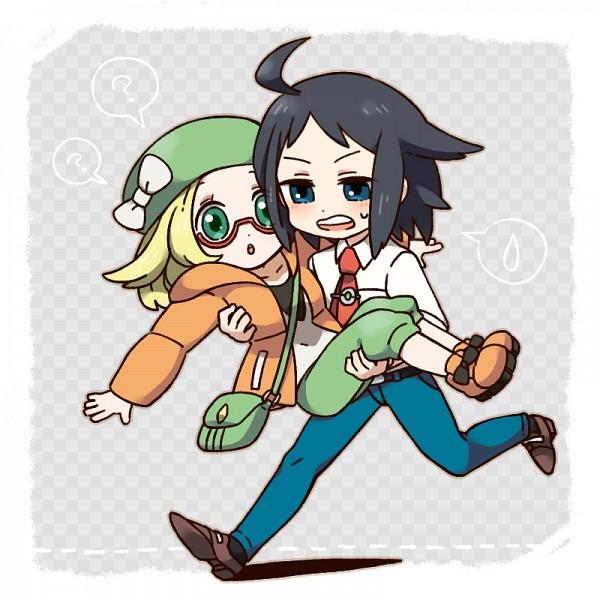 Tags: Anime, Pixiv Id 928691, Black and White 2, Pokémon, Bel (Pokémon), Cheren (Pokémon)