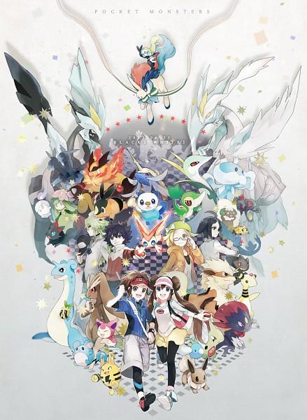 Tags: Anime, Akira Hou, Black and White 2, Pokémon, Swablu, Joltik, Mei (Pokémon), Lapras, N (Pokémon), Kyurem, Marill, Litwick, Snivy
