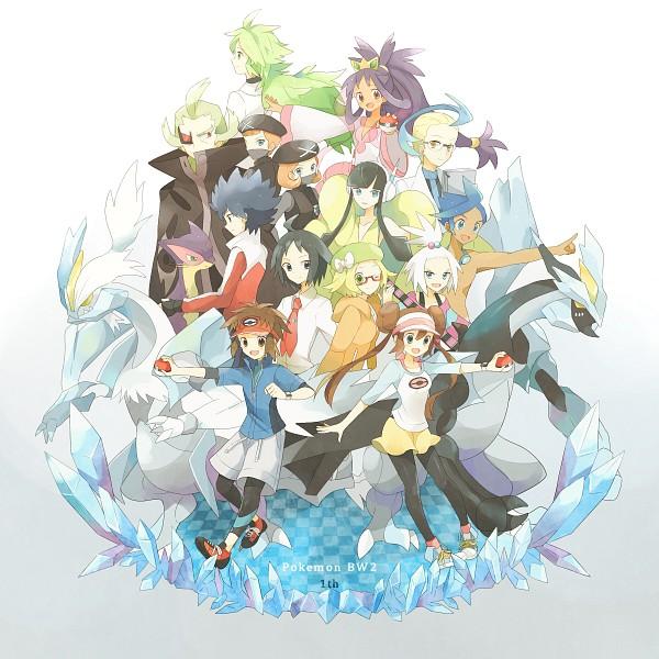 Tags: Anime, May (Pixiv Id 233774), Black and White 2, Pokémon, Kyouhei, Reshiram, Kamitsure, Mei (Pokémon), Bel (Pokémon), G-Cis Harmonia, Homika, Cheren (Pokémon), Shizui (Pokémon)