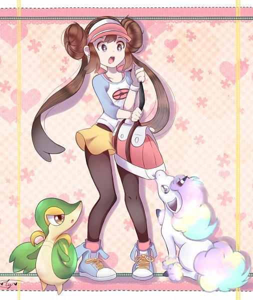 Tags: Anime, Black and White 2, Pokémon, Ponyta, Mei (Pokémon), Snivy, Handbag, Artist Request, Galar Form