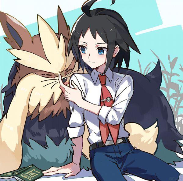 Tags: Anime, Pixiv Id 691307, Black and White 2, Pokémon Black & White, Pokémon, Stoutland, Cheren (Pokémon), Pixiv, Fanart From Pixiv, Fanart