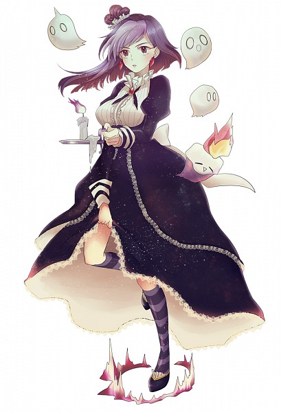 Tags: Anime, Pixiv Id 4044296, Cookie Run, Blackberry Cookie, Lace Trim, Purple Legwear, Purple Flame, Fanart From Pixiv, Pixiv, Fanart, Mobile Wallpaper
