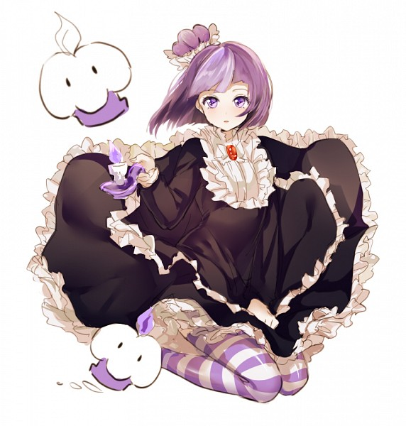 Tags: Anime, mery (dpqpqp550), Cookie Run, Blackberry Cookie, Purple Flame, PNG Conversion, Fanart, Twitter