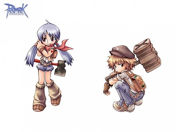 Tags: Anime, RAGNARÖK ONLINE, Blacksmith (Ragnarok Online), Hammer (Weapon), Official Art, Wallpaper