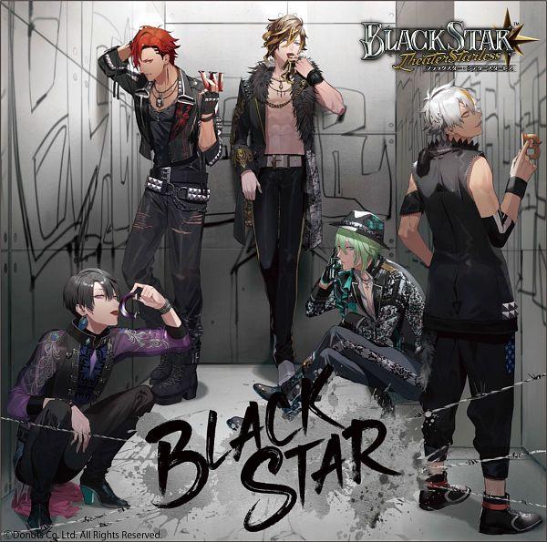 Tags: Anime, Donuts (Studio), Blackstar -Theater Starless-, Kei (Black Star), Mokuren (Black Star), Mizuki (Black Star), Rindou (Black Star), Kokuyou (Black Star), Single Sleeve, CD (Source)