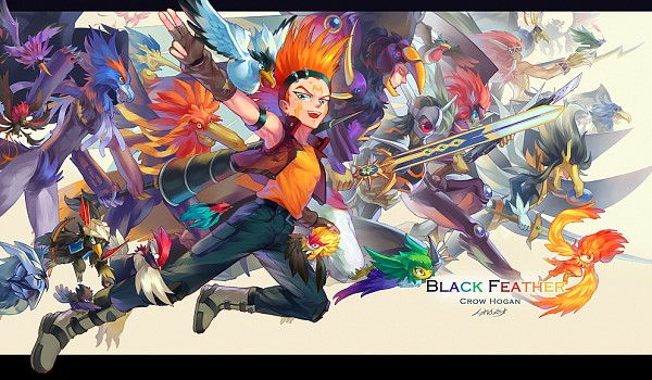 Tags: Anime, Pixiv Id 3788078, Yu-Gi-Oh! 5D's, Yu-Gi-Oh!, Yu-Gi-Oh! ARC-V, Blackwing - Sirocco the Dawn, Blackwing - Bora the Spear, Blackwing - Jetstream The Blue Sky, Blackwing - Kochi The Daybreak, Assault Blackwing - Raikiri The Rain Shower, Blackwing - Gale the Whirlwind, Blackwing - Ghibli The Searing Wind, Black-Winged Dragon