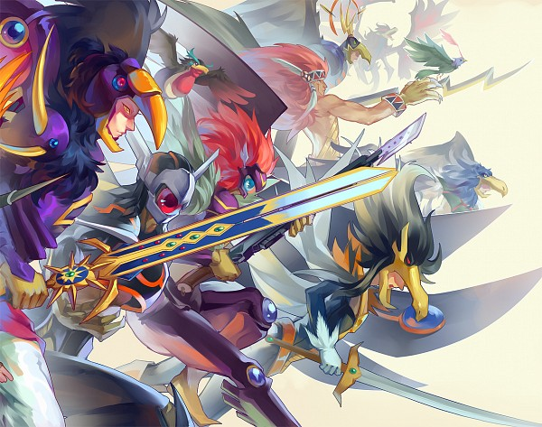 Tags: Anime, Pixiv Id 3788078, Yu-Gi-Oh! 5D's, Yu-Gi-Oh! ARC-V, Yu-Gi-Oh!, Blackwing - Sirocco the Dawn, Blackwing - Silverwind The Ascendant, Blackwing Armor Master, Blackwing - Aurora The Northern Lights, Assault Blackwing - Raikiri The Rain Shower, Blackwing Armed Wing, Black-Winged Dragon, Blackwing - Tornado The Raging Squall