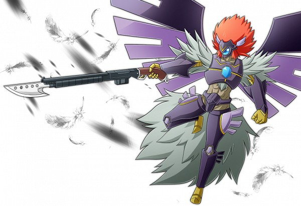 Tags: Anime, Pixiv Id 319256, Yu-Gi-Oh!, Yu-Gi-Oh! 5D's, Blackwing Armed Wing, Fanart From Pixiv, Fanart, PNG Conversion, Pixiv