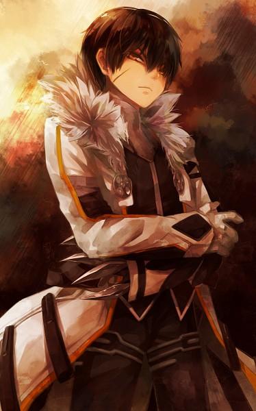 Tags: Anime, Pixiv Id 4626787, Elsword, Raven (Elsword), Blade Master (Raven), Mechanical Arm, Fanart, Mobile Wallpaper, Fanart From Pixiv, Pixiv